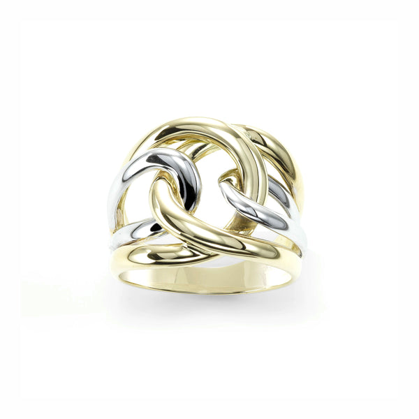 Interlocking Open Ring, 18 Karat Gold