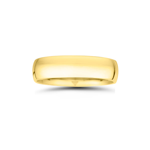 High Polished Wedding Band, 6 MM, 14K Yellow Gold