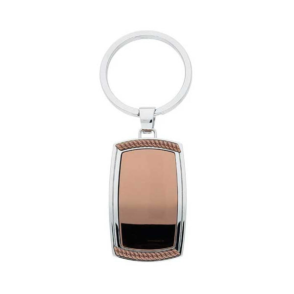 Brown Tone Key Ring, Stainless Steel