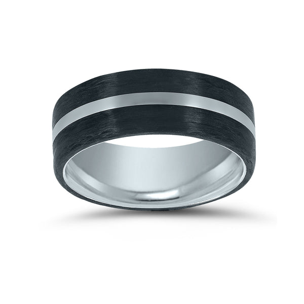 Cobalt and Carbon Fiber Ring, Size 10