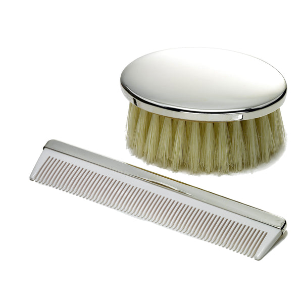 Baby Comb and Brush Set, Sterling Silver