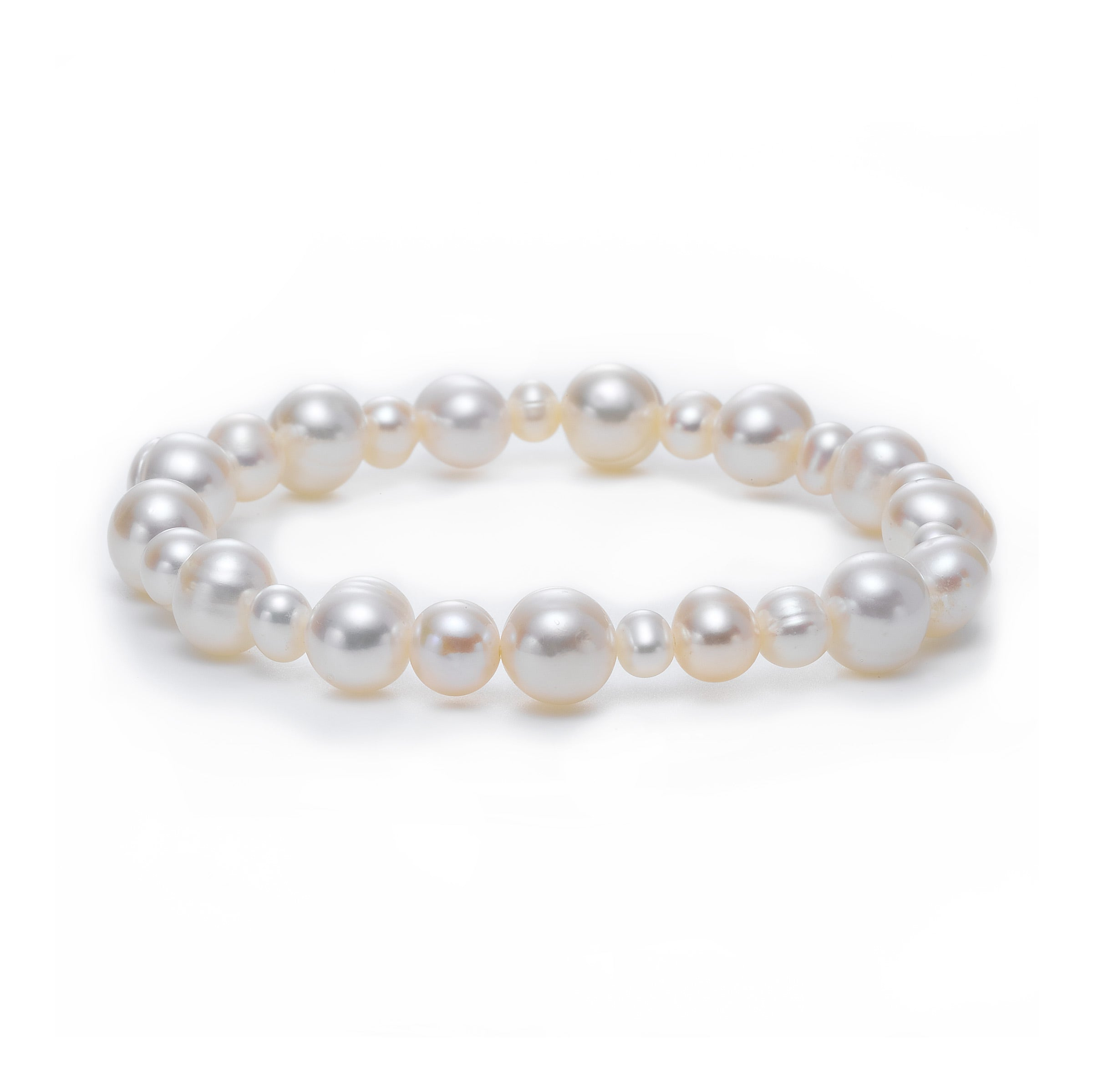 White Freshwater Cultured Pearl Stretch Bracelet