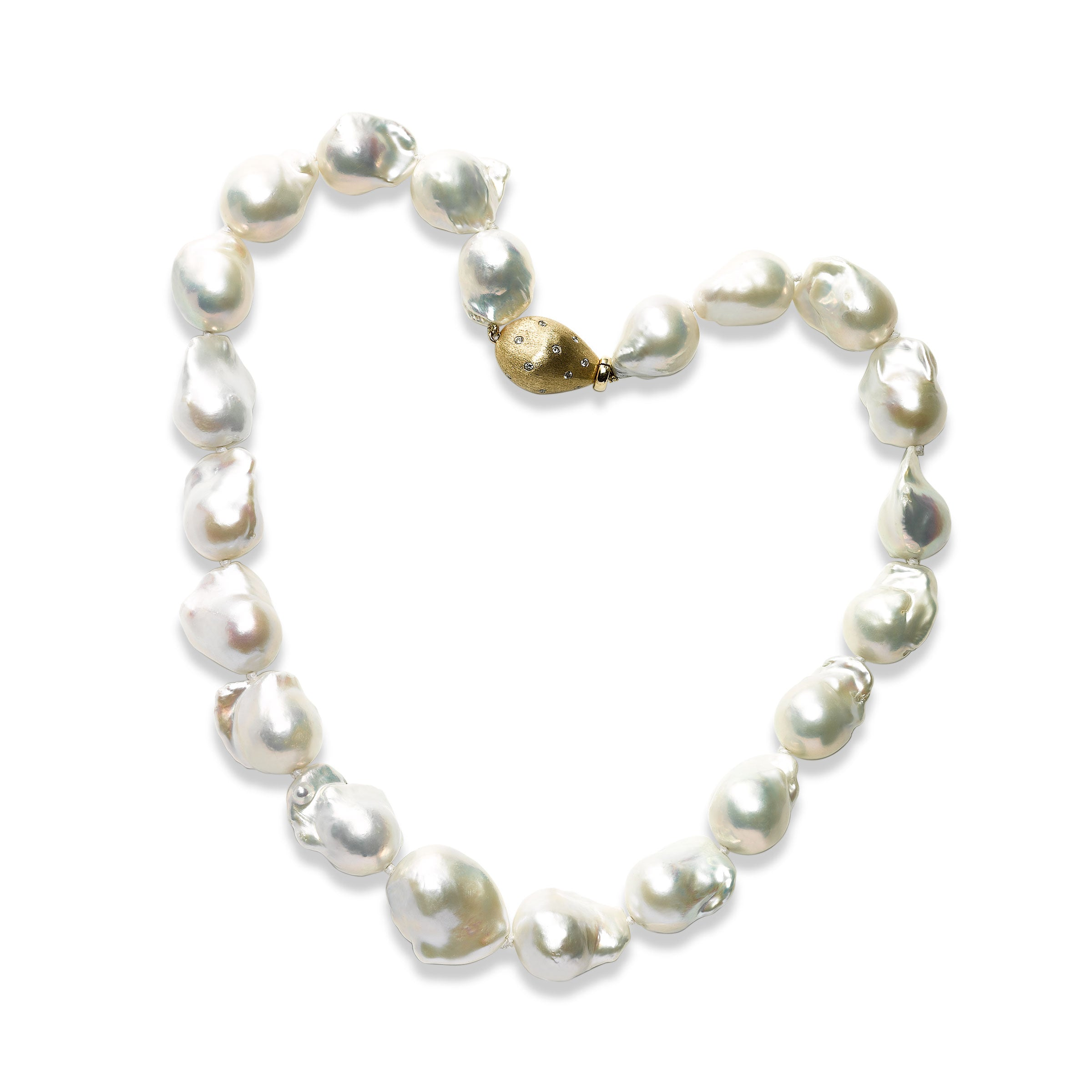7bb6c99015ecf Baroque South Sea Cultured Pearl Necklace, 14K Yellow Gold