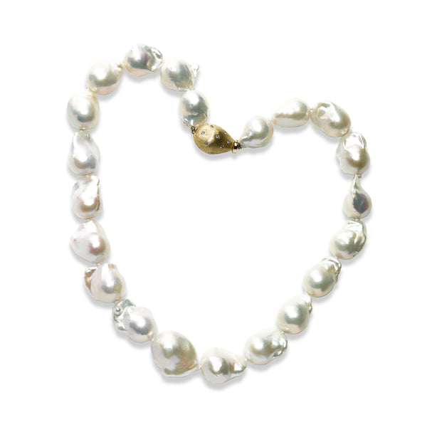 Baroque South Sea Cultured Pearl Necklace, 14K Yellow Gold