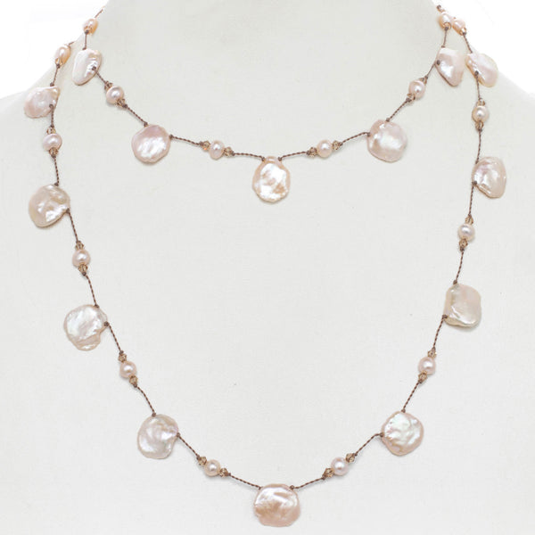 'Keshi' Freshwater Cultured Pearl Necklace, Sterling Silver