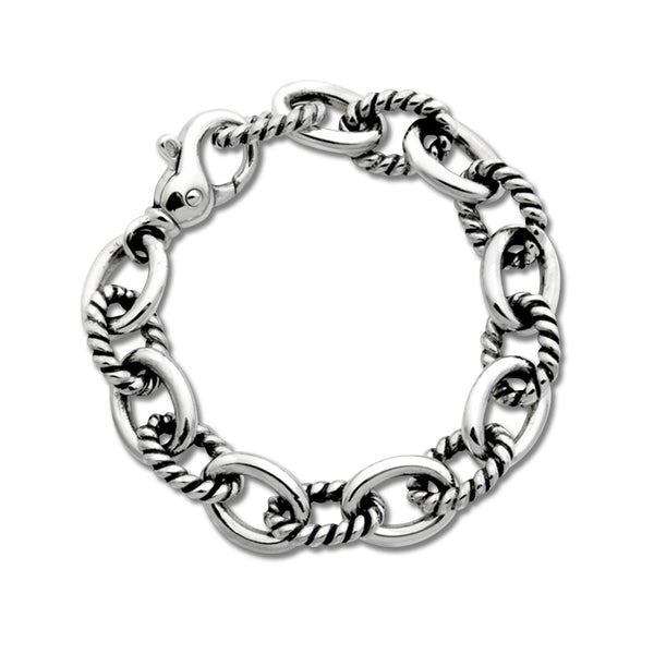 Twisted Link Bracelet, Sterling Silver