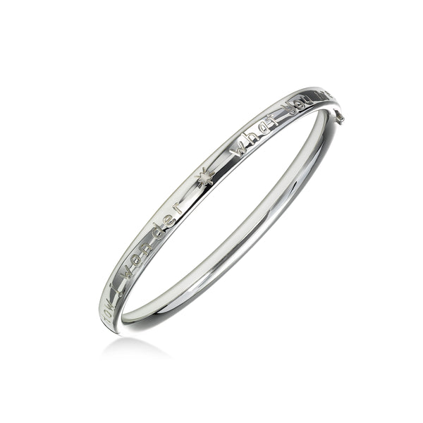 """Twinkle, Twinkle Little Star"" Bangle Bracelet, Sterling Silver"