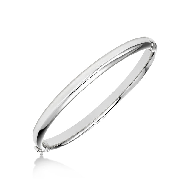 Shiny Bangle Bracelet, Sterling Silver
