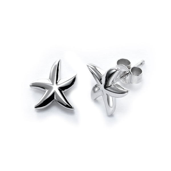 Starfish Earrings, Sterling Silver
