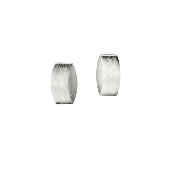Brushed On-The-Ear Earrings, Sterling Silver