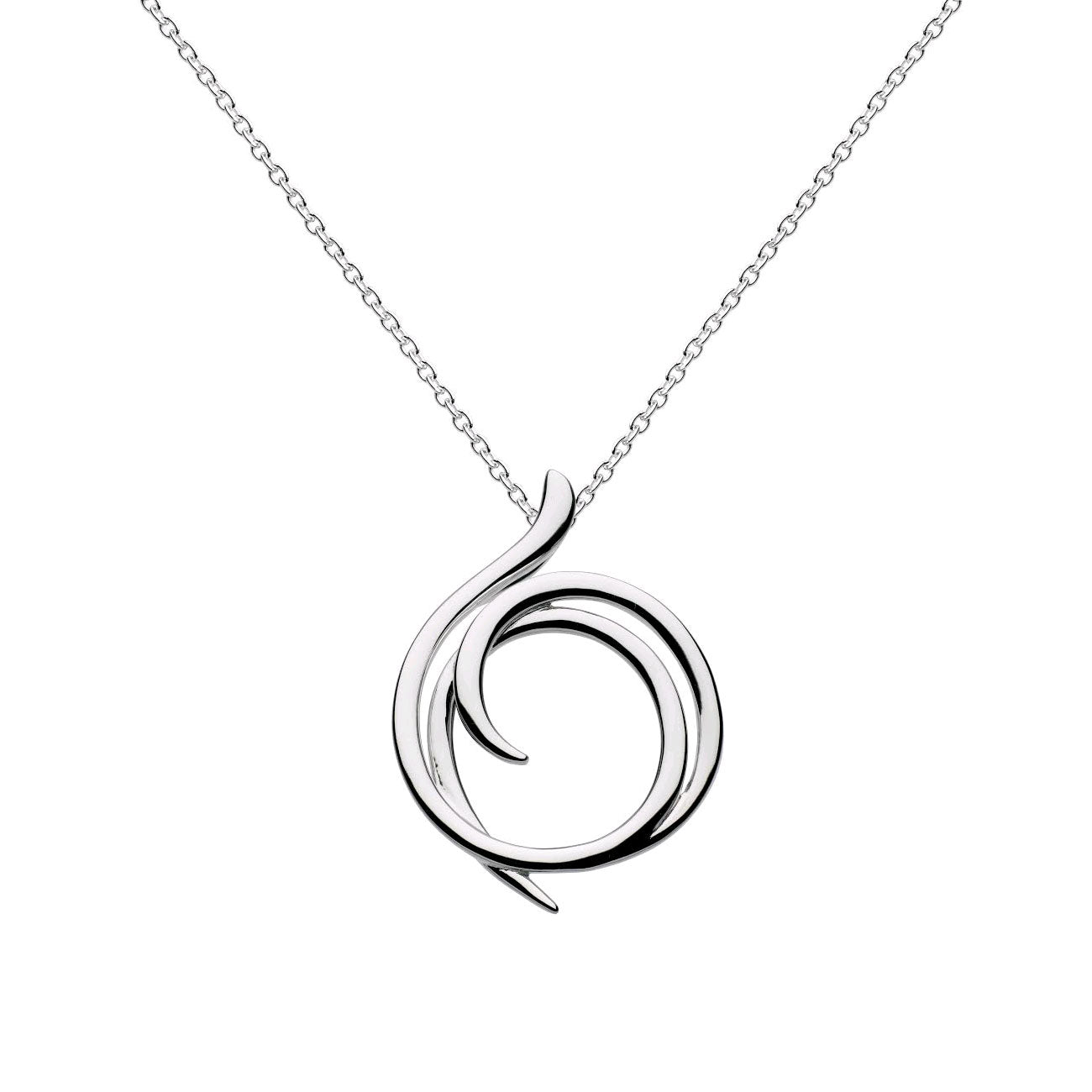 Helix Wrap Pendant, Sterling Silver