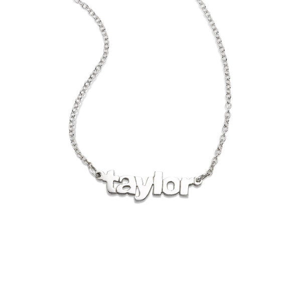 Custom Name Necklace, Sterling Silver