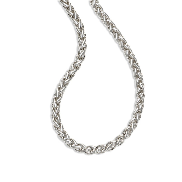 Substantial Wheat Chain, 24 Inches, Sterling Silver