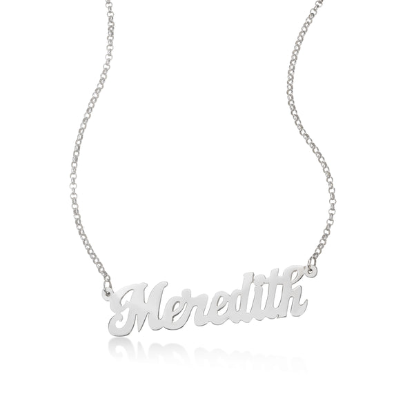 Script Custom Name Necklace, Sterling Silver