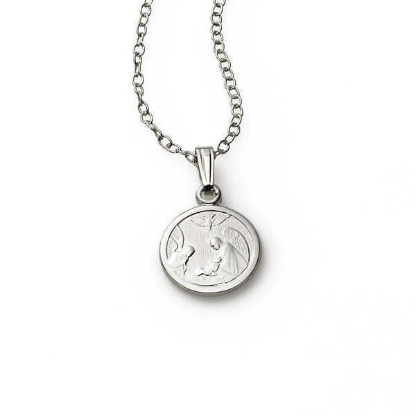 Baby's Guardian Angel Pendant, Sterling Silver