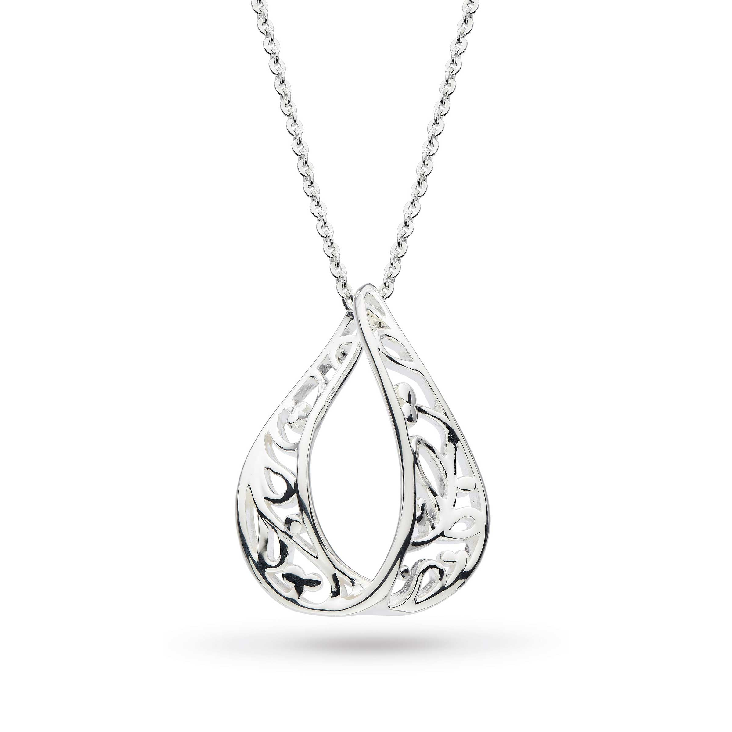 Blossom Flourish Teardrop Necklace, Sterling Silver