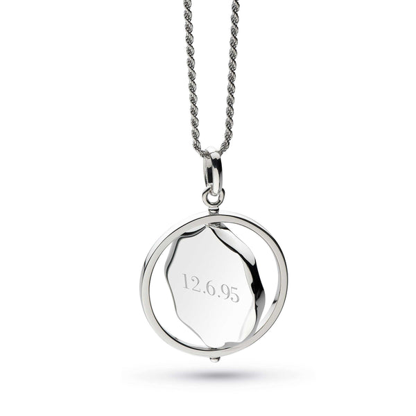 Empire Revival Large Round Spinner Pendant, Sterling Silver