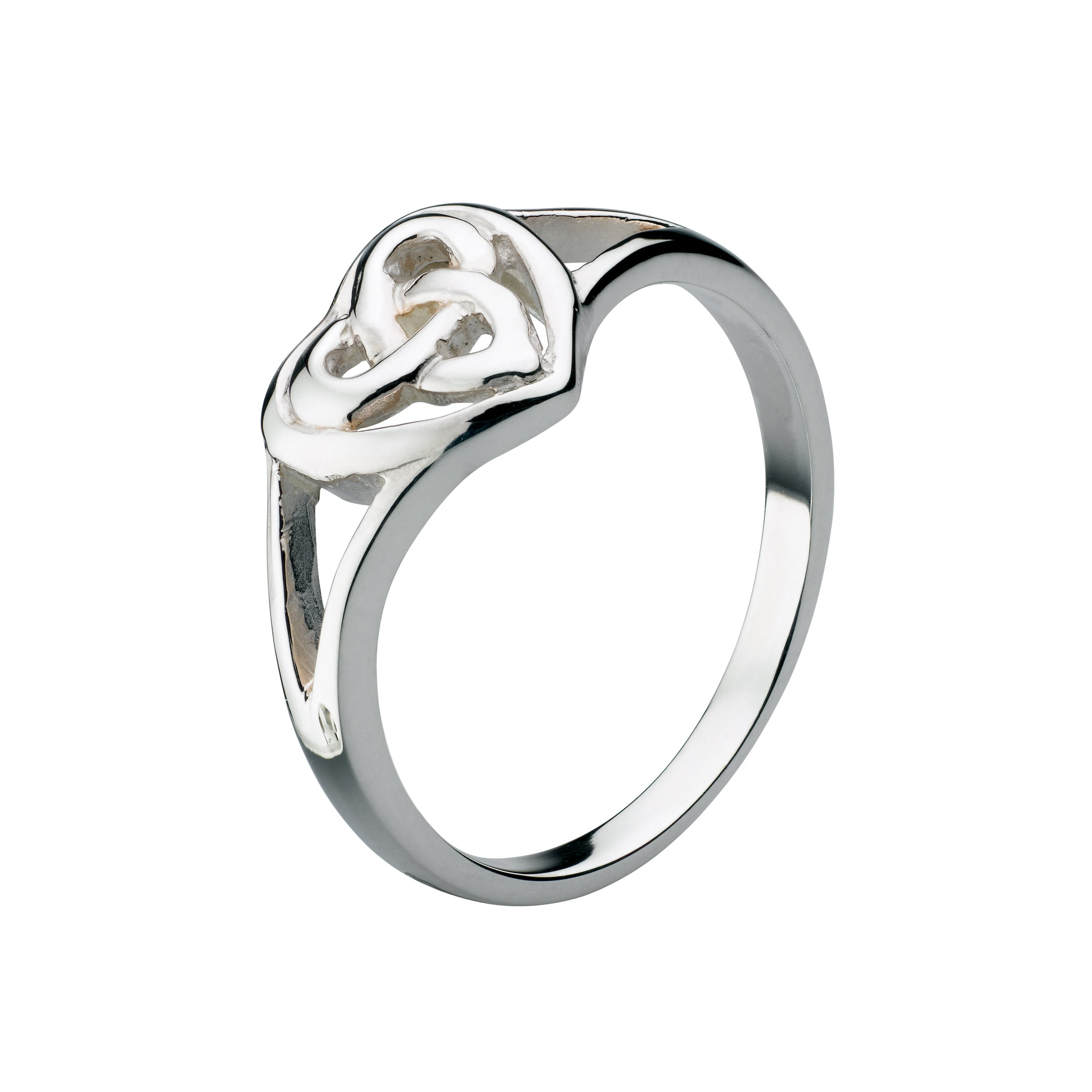 Heritage Celtic Heart Ring, Sterling Silver