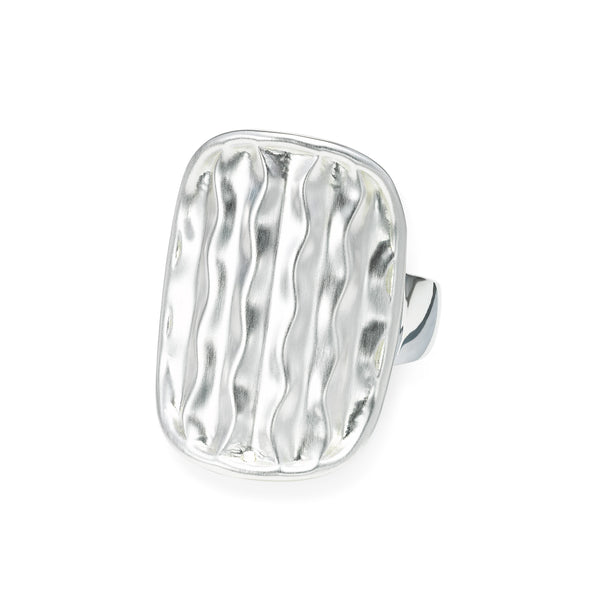 Desert Wave Saddle Ring, Sterling Silver