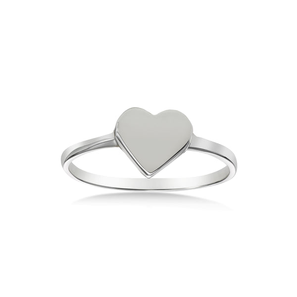 Engravable Heart Ring, Sterling Silver