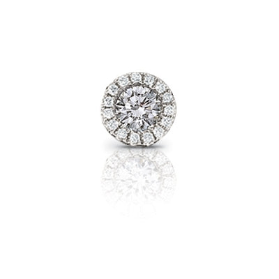 Diamond Rondelle Charm, 14K White Gold