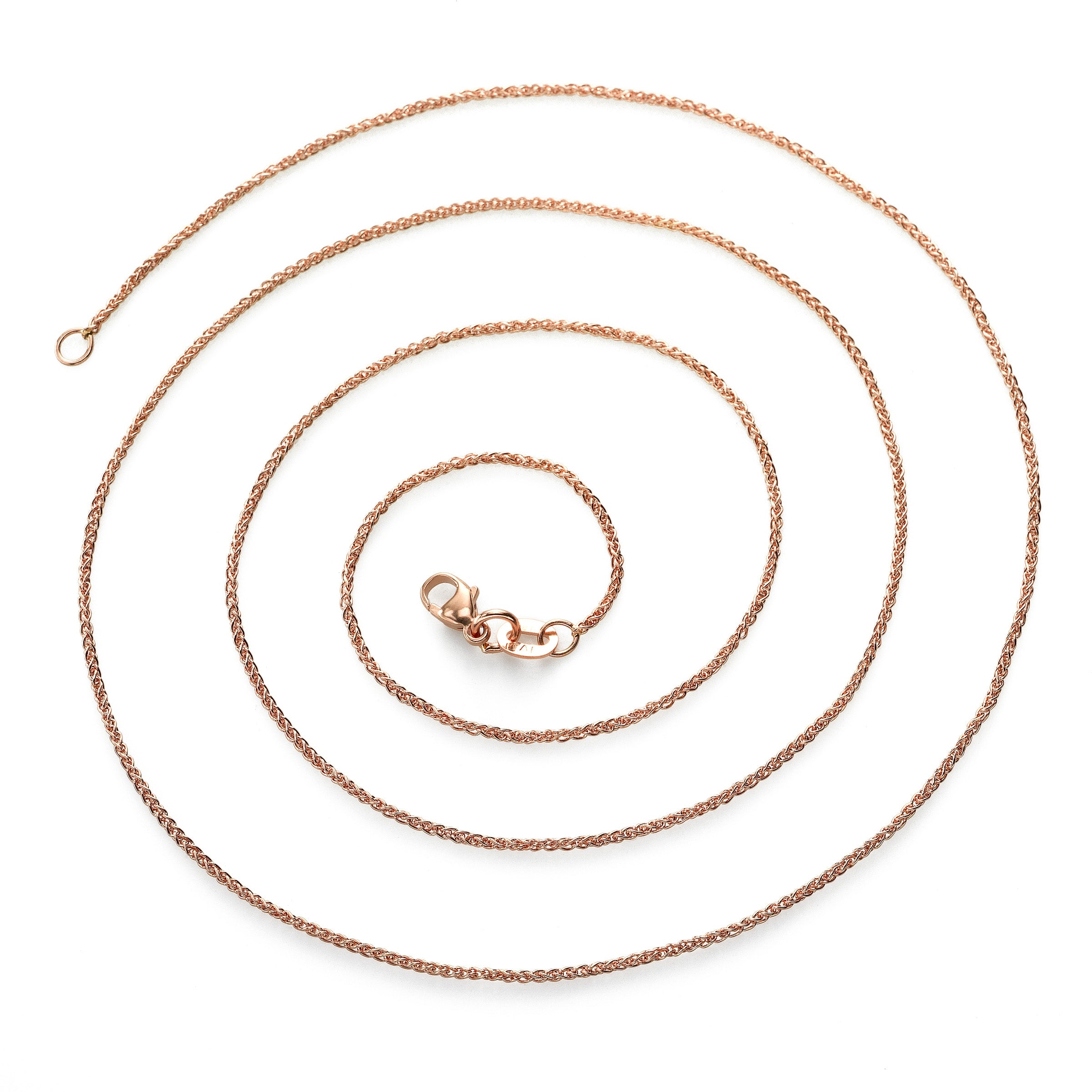 Cable Chain, 16 Inches, 14K Rose Gold
