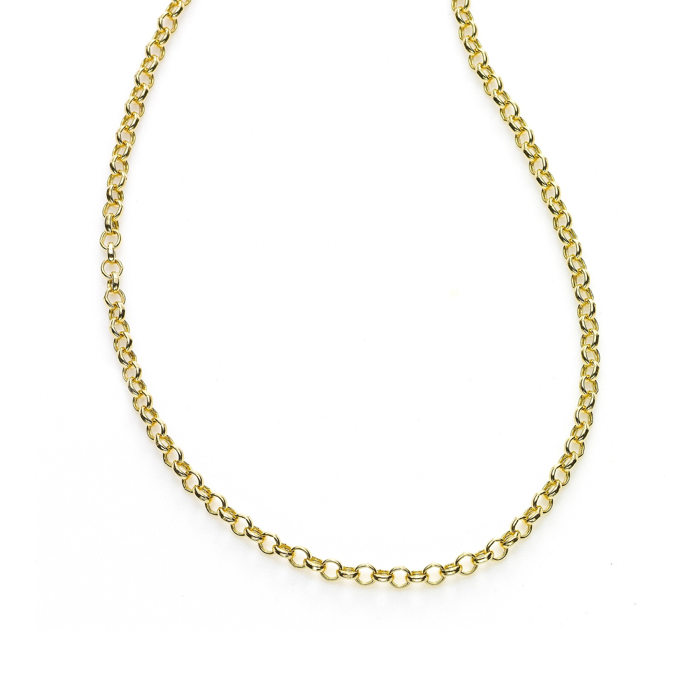 Lightweight Cable Chain, 18 Inches, 14K Yellow Gold