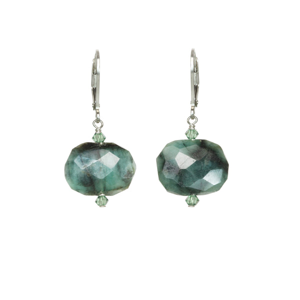 Emerald Drop Earring by Margo Morrison
