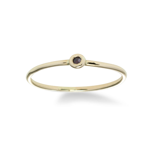 Midi-Ring with Ruby, 14K Yellow Gold
