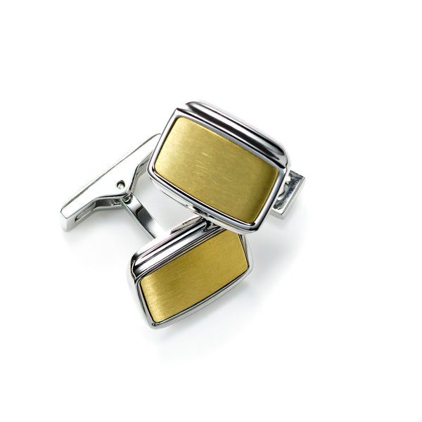 Gold Tone Cufflinks, Stainless Steel