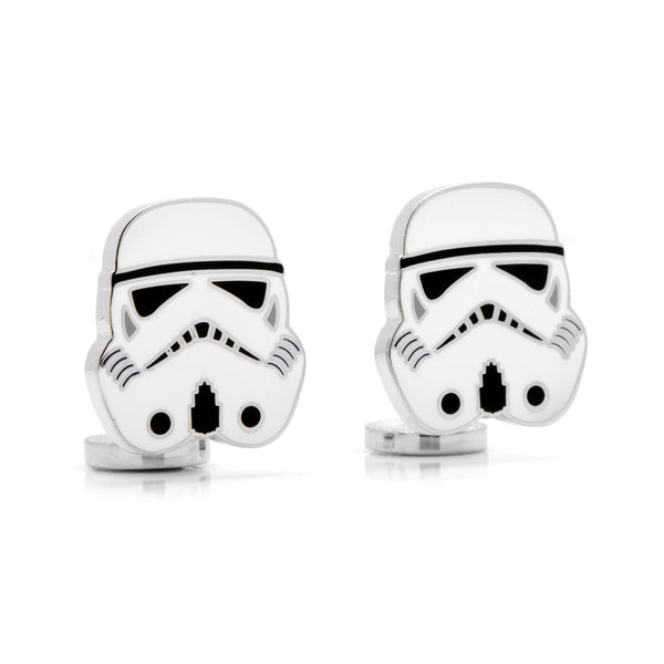 Storm Trooper Cufflinks, Rhodium Plated Base Metal