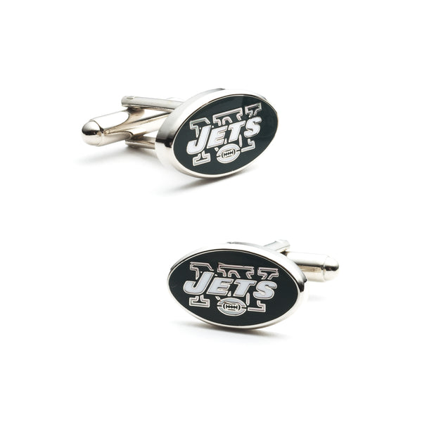 New York Jets Cufflinks, NFL Officially Licensed, Nickel Plated