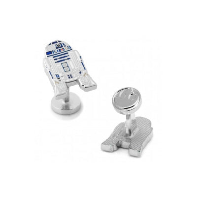 R2D2 Enamel Cufflinks, Nickel Plated Base Metal