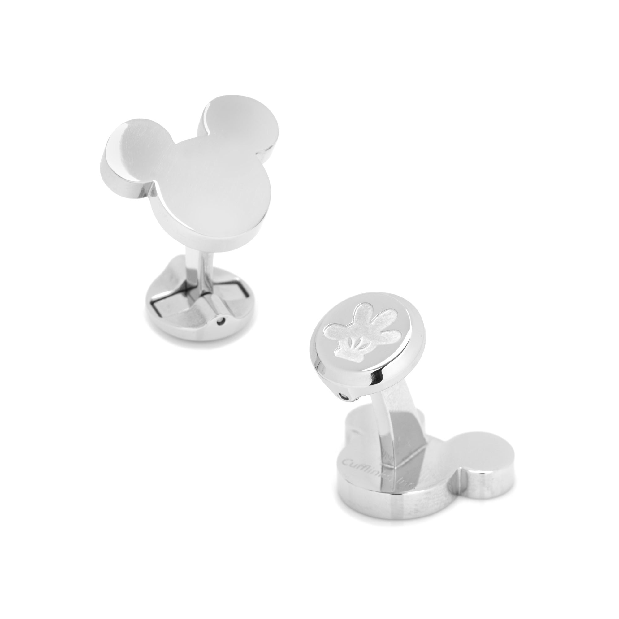 Mickey Mouse Cufflinks, Stainless Steel