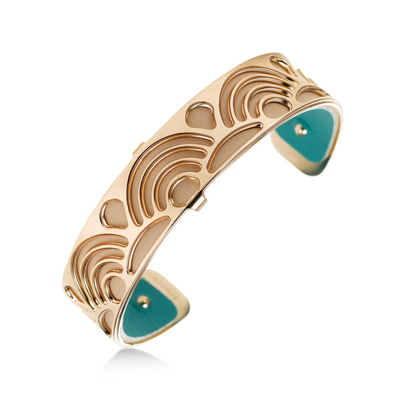 """Poisson"" Rose Tone Open Cuff Bracelet, by Les Georgettes"