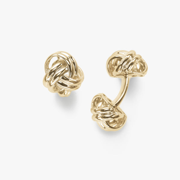 Knot Cuff Links, 14K Yellow Gold