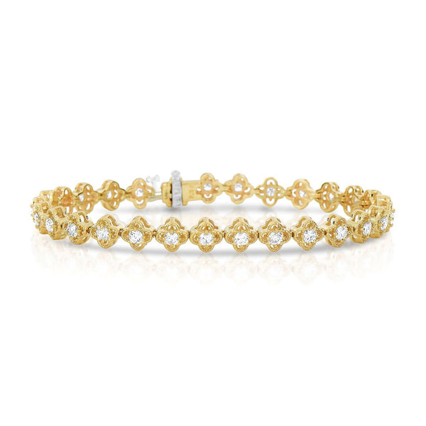Flexible Link Diamond Bracelet, 2.22 Carats, 14K Yellow Gold