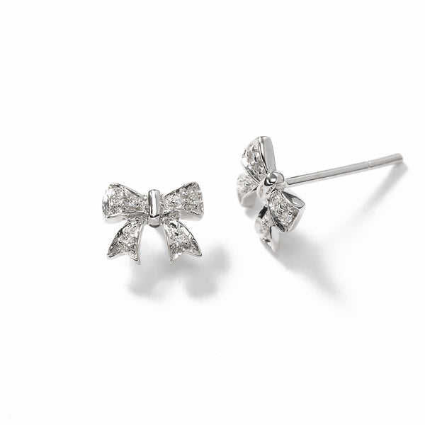 Child's Diamond Bow Stud Earring, 14K