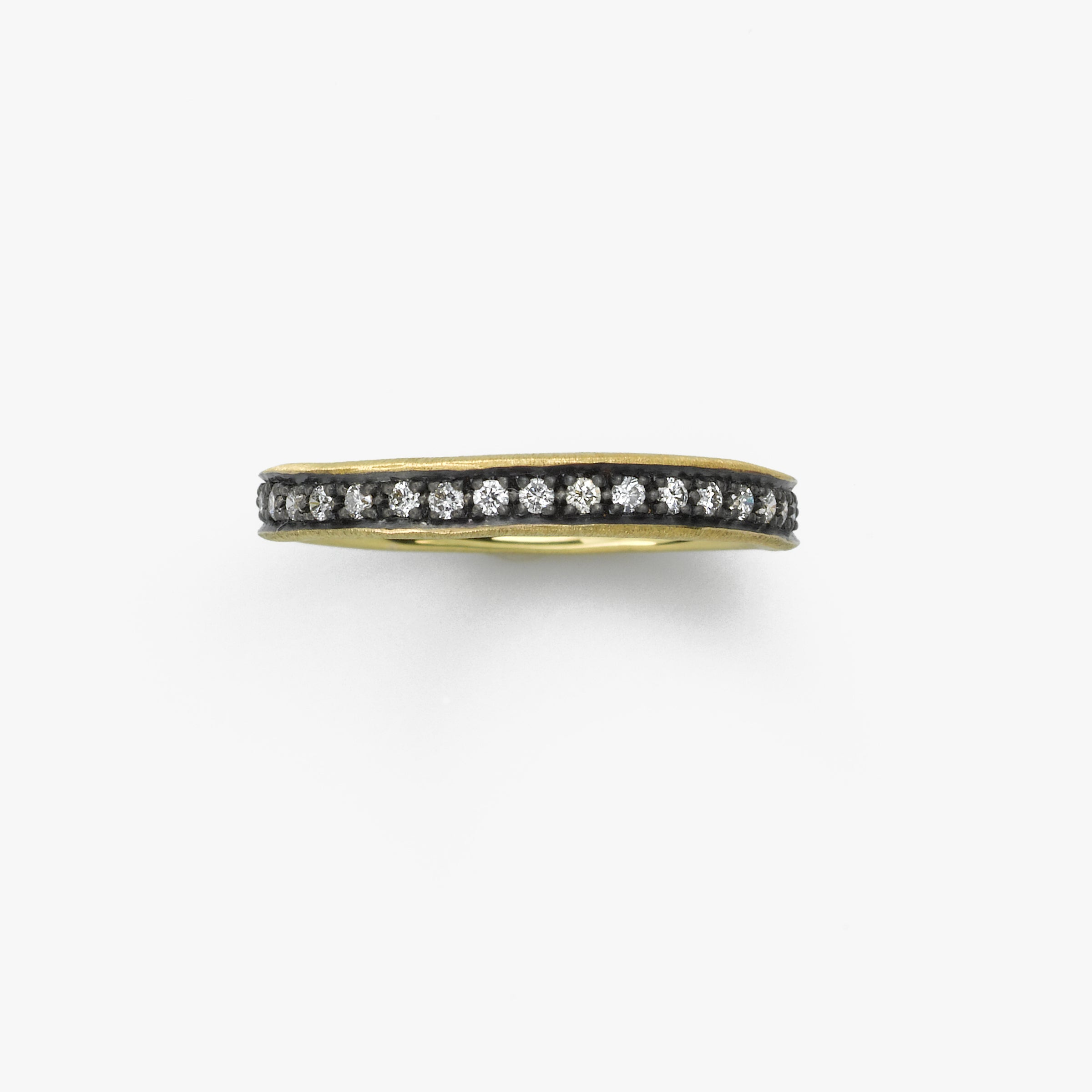 Midnight Diamond .37 Carat Eternity Band, 14K Yellow Gold