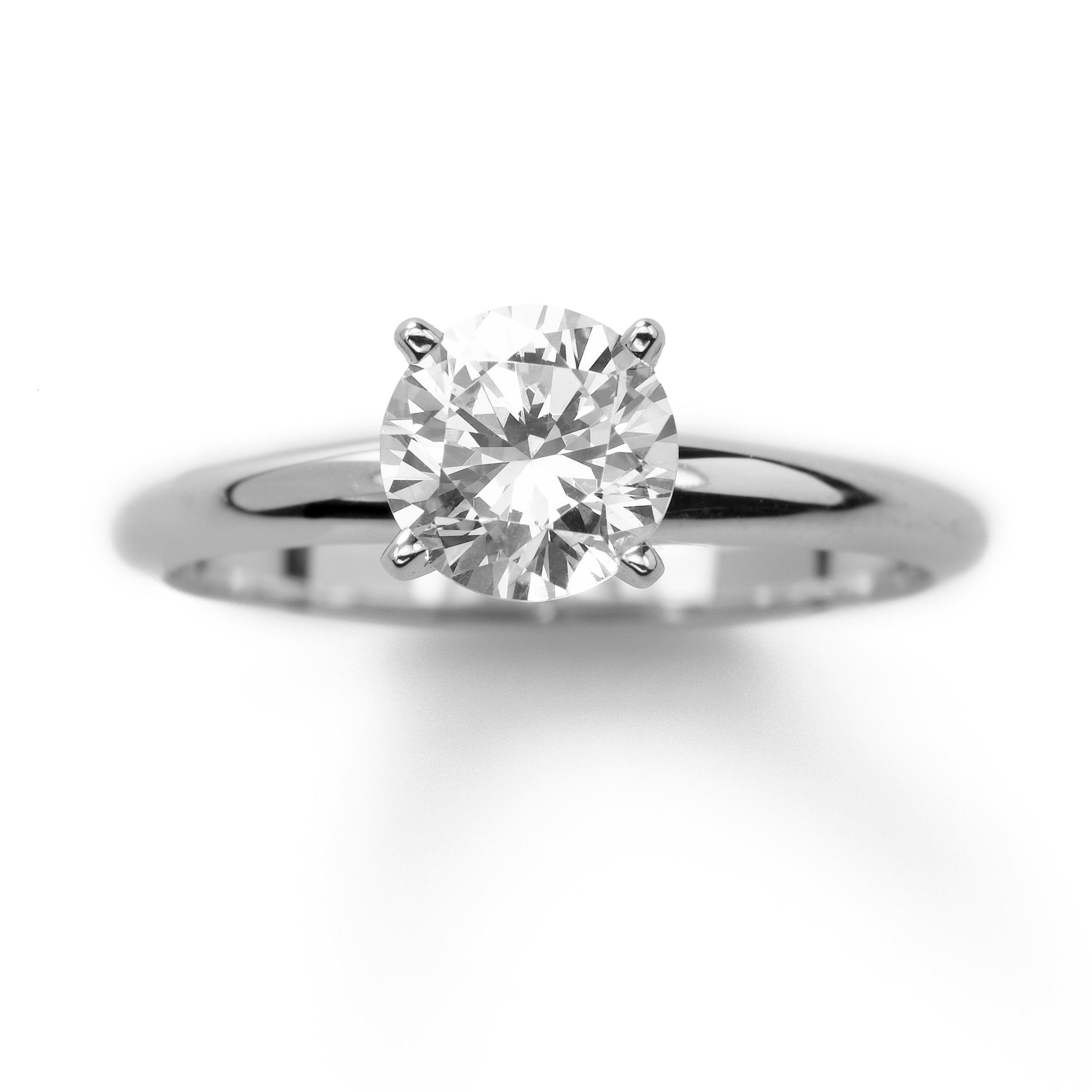 Classic Round Solitaire Engagement Ring, 1 Carat
