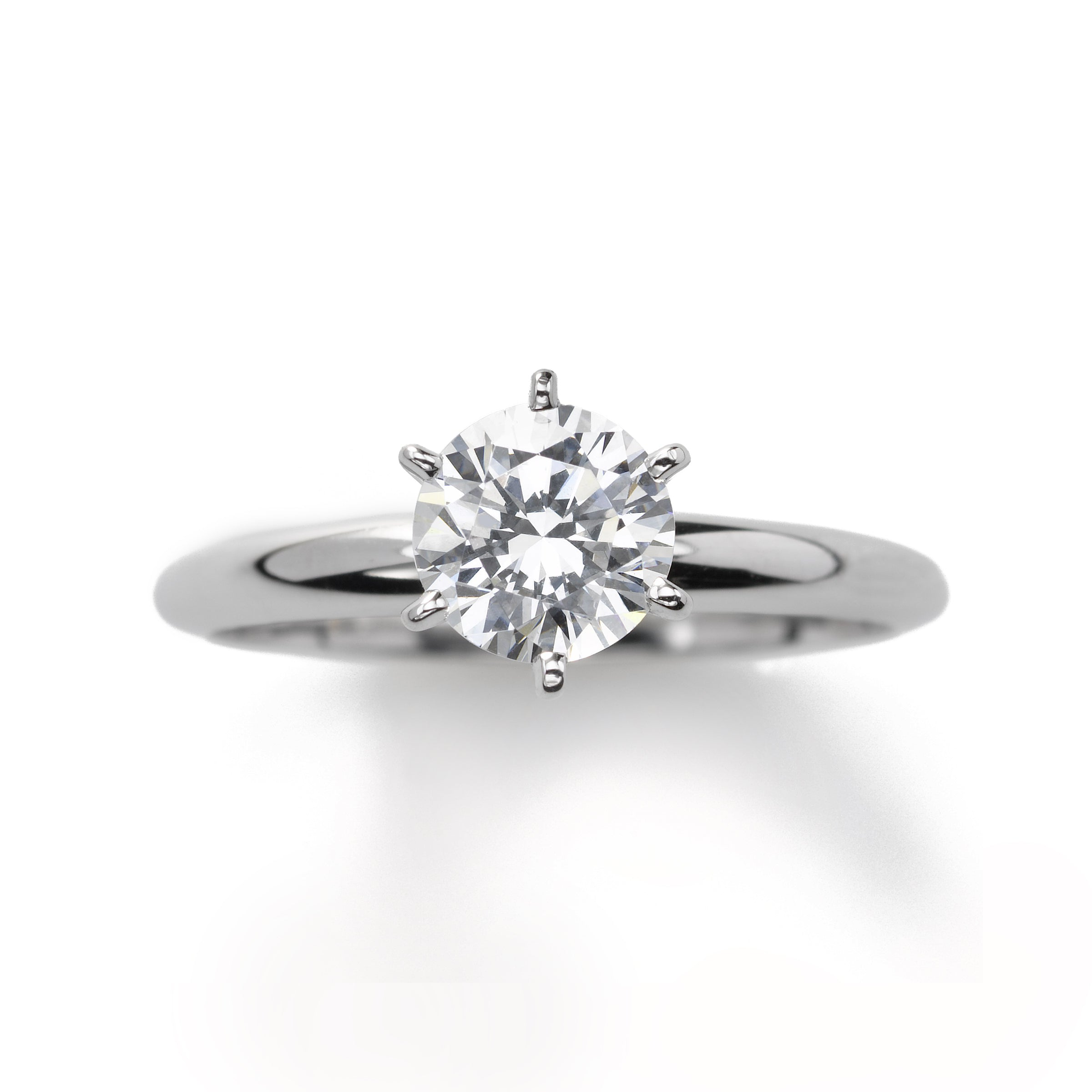 Classic 1.25 Carat Diamond Engagement Ring, 14K White Gold
