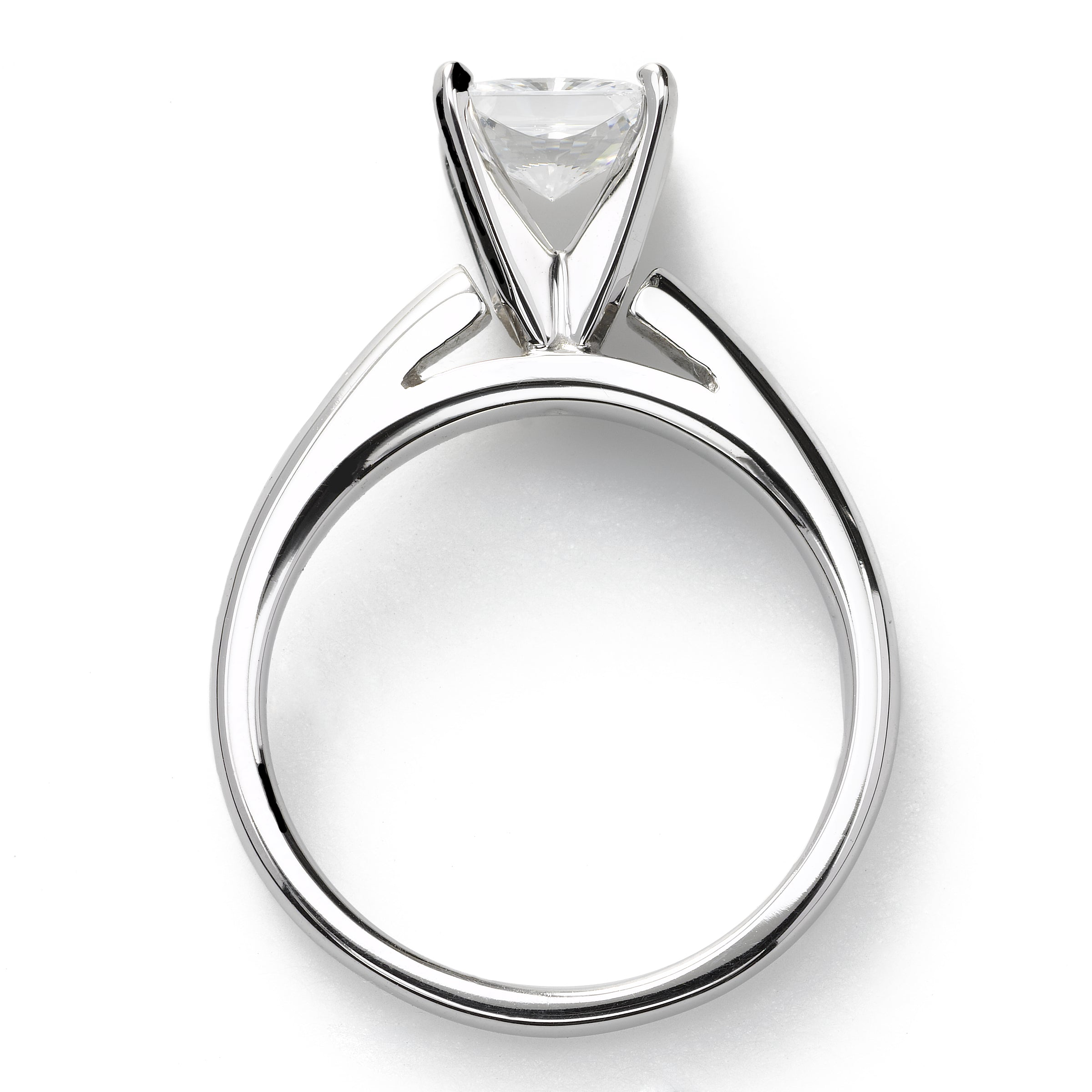 Classic Princess Cut Engagement Ring, 1.25 Carat, 14K White Gold