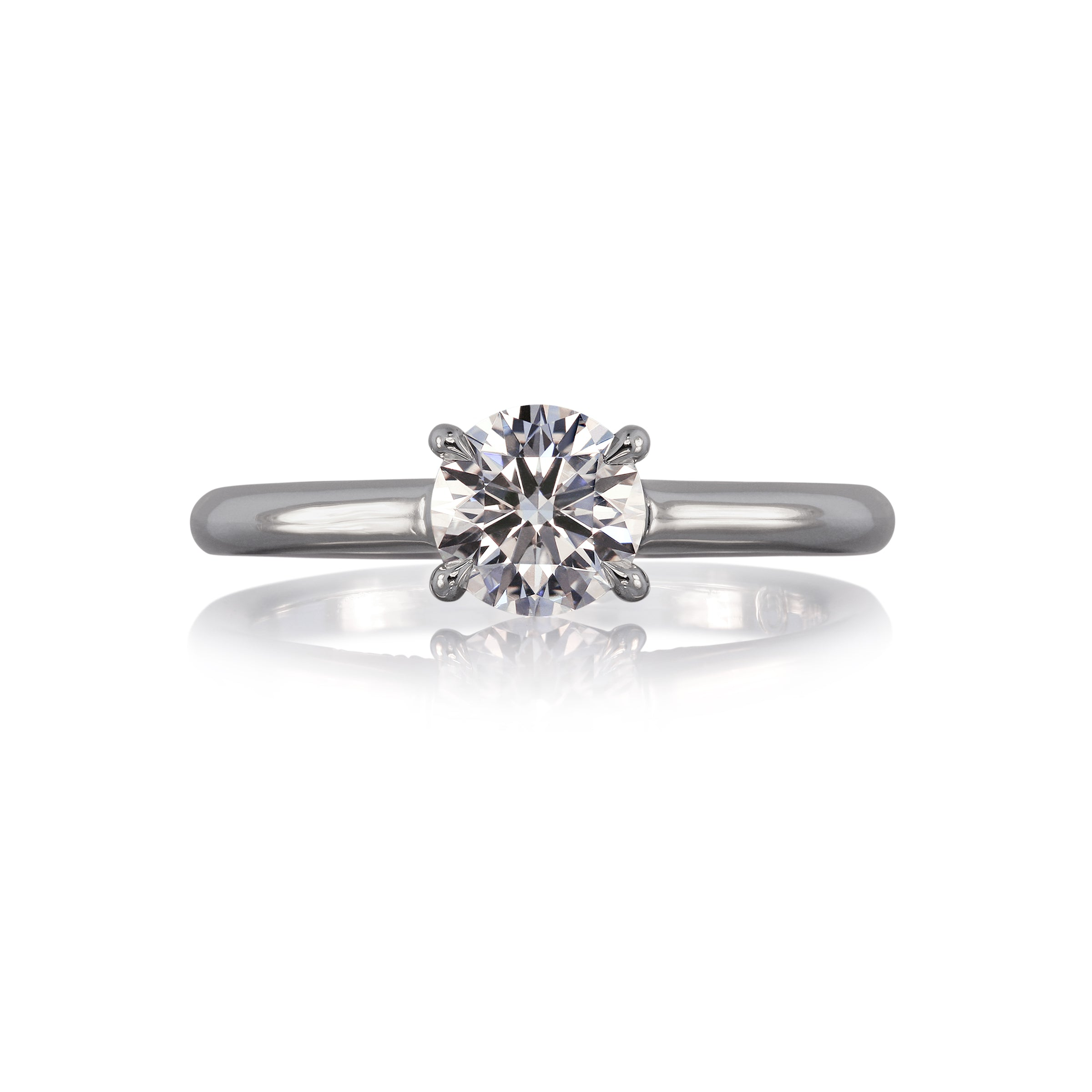 Lazare Ideal Cut Diamond Ring, 1 Carat, 18K White Gold