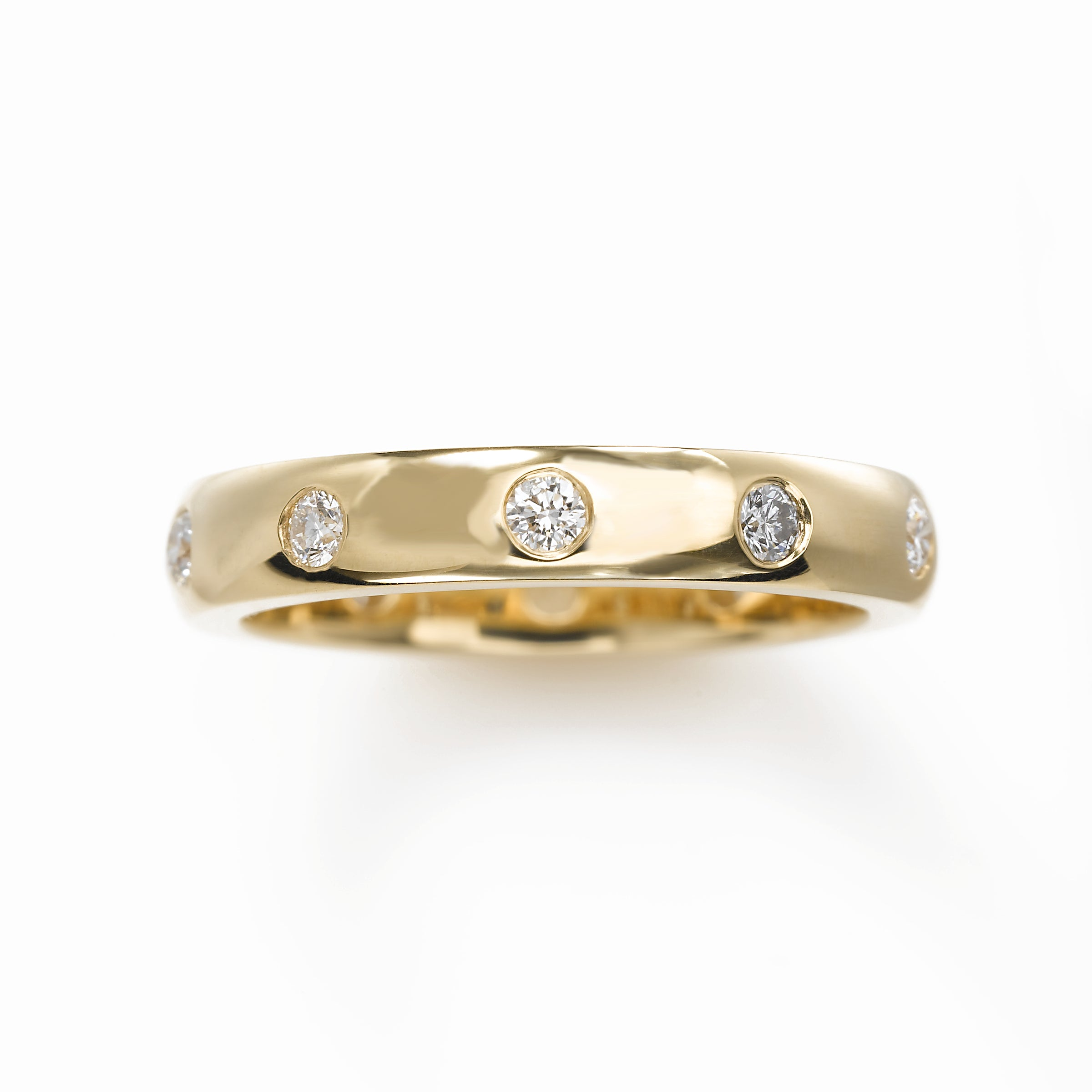 Flush Set .40 carat total Diamond Band, 14K YG