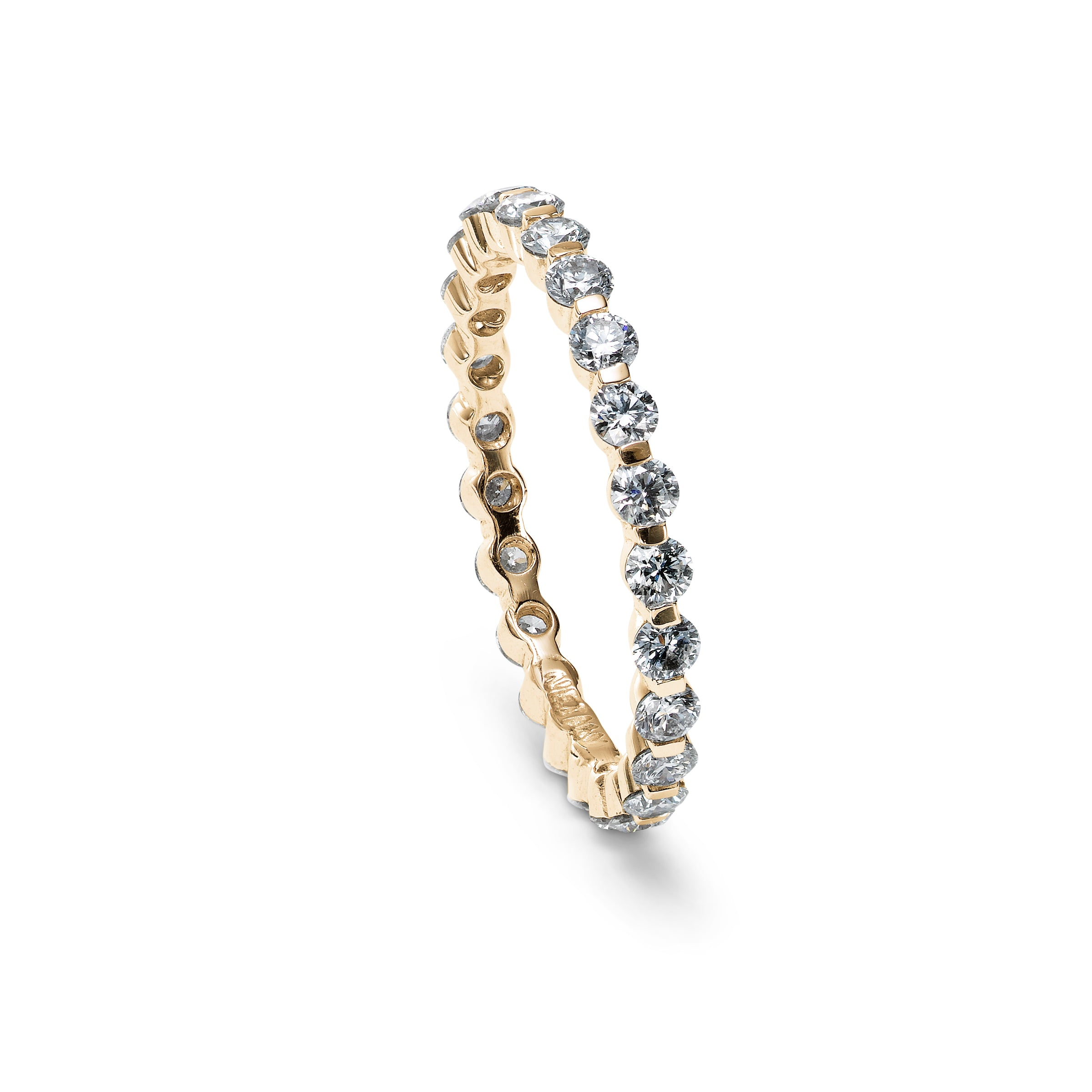 Diamond Eternity Band, 14K Yellow Gold