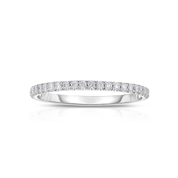 Single Row Diamond Eternity Band, 14K White Gold