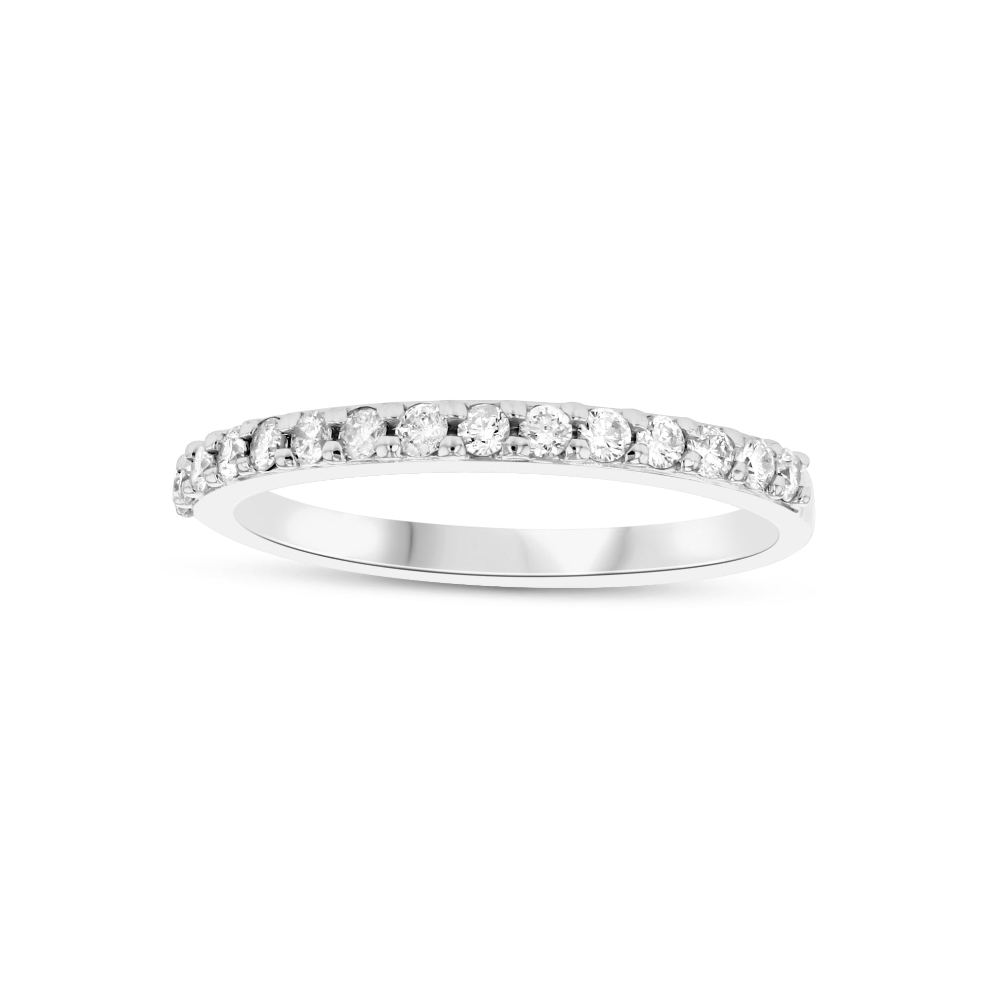 Halfway Around Diamond Band, .33 Carat, 14K White Gold