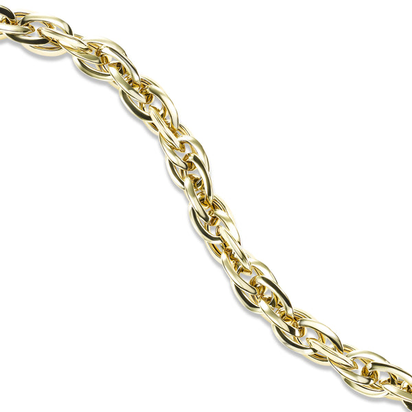 Interlocking Oval Link Bracelet, 14K Yellow Gold
