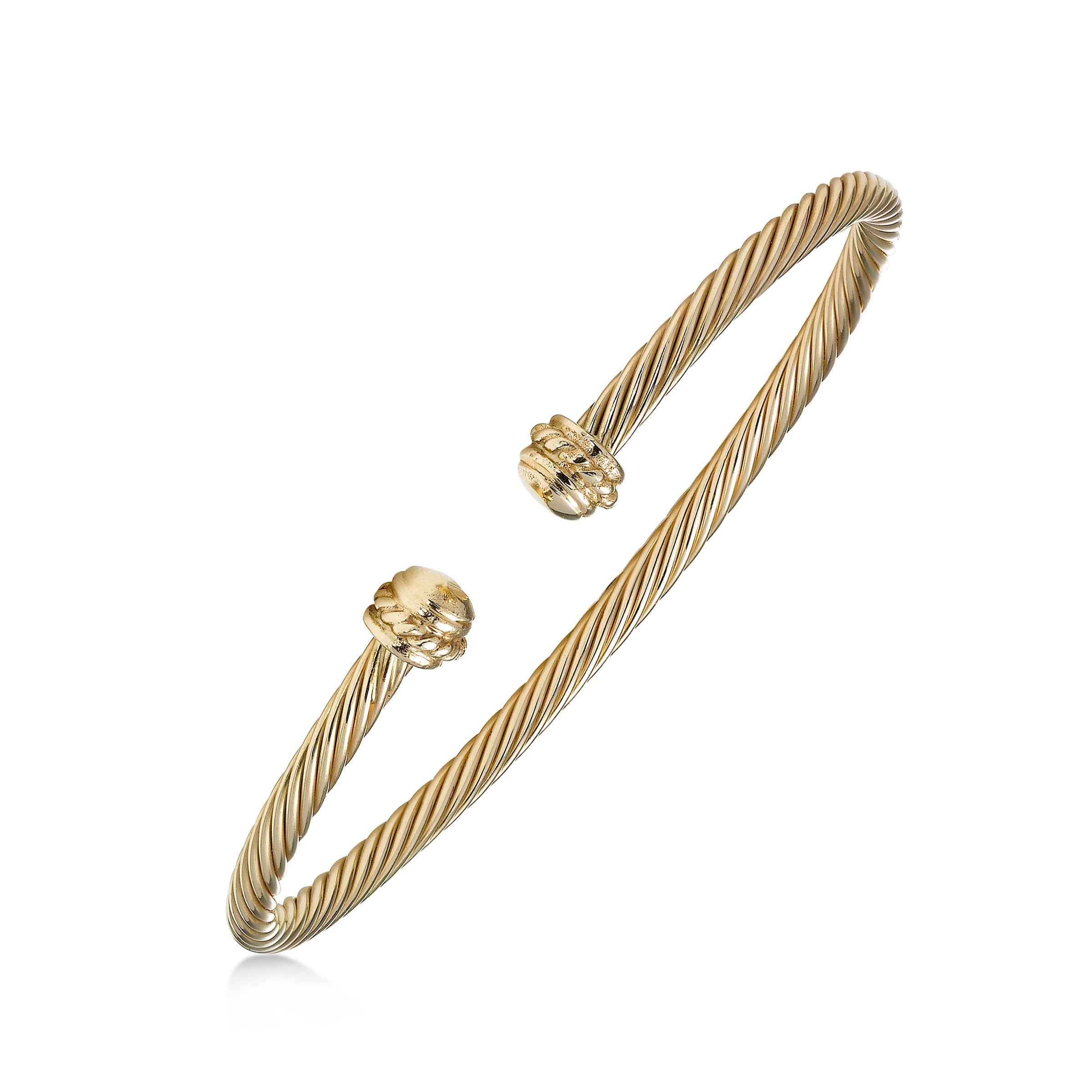 Twist Motif Cuff Bracelet, 14K Yellow Gold