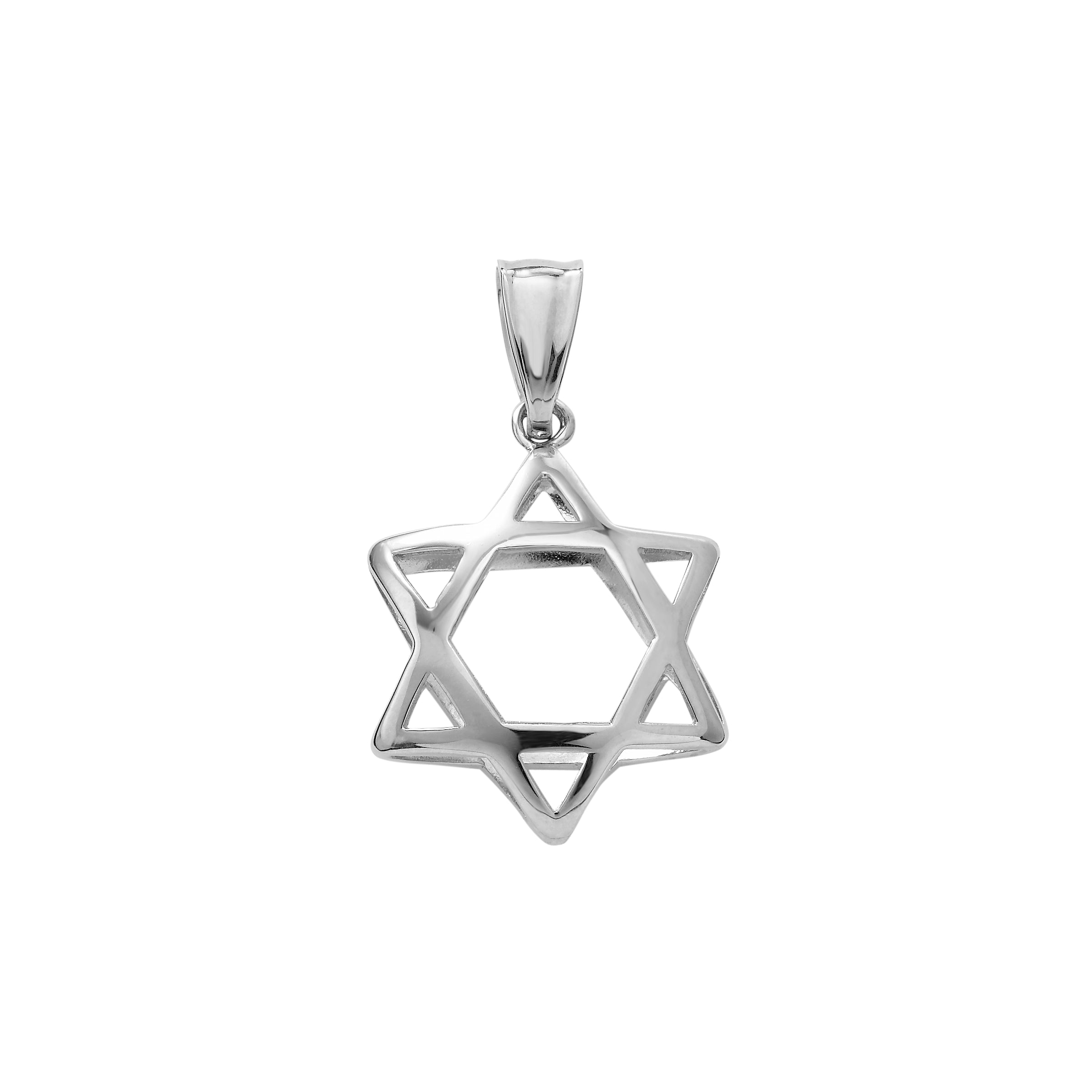 Star of David Silhouette Charm, 14KW